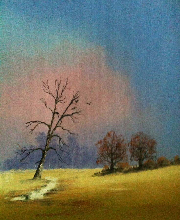 Hampshire mid winter  Pastel