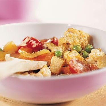 Gemüsecurry mit Zitronenreis Rezept | Küchengötter