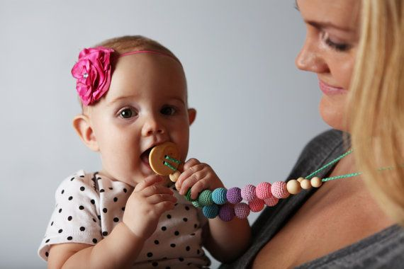 Double Berry Nursing Necklace  Juniper Wood by KangarooCare