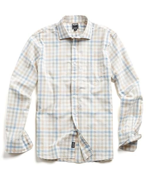 Spread Collar Tattersall Shirt by Todd Snyder