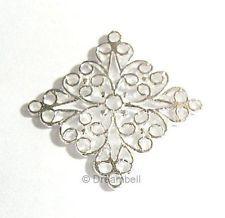 Silver Filigree Chandelier Earring Loop Connector Bead Bright Sterling