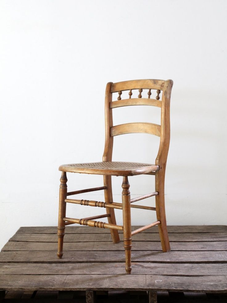 Cane Seat Chair // Antique Wood Chair. $124.00, Via Etsy. | Dining Room |  Pinterest | Antique Wood, Woods And Aged Wood