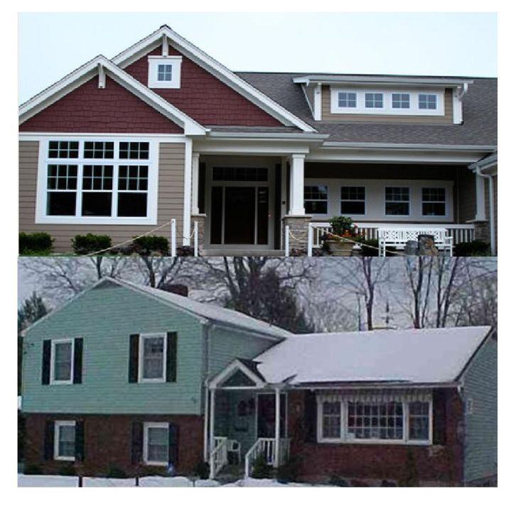 Before And After Garage Remodels: Renovating Split Level Home Into A Craftsman.
