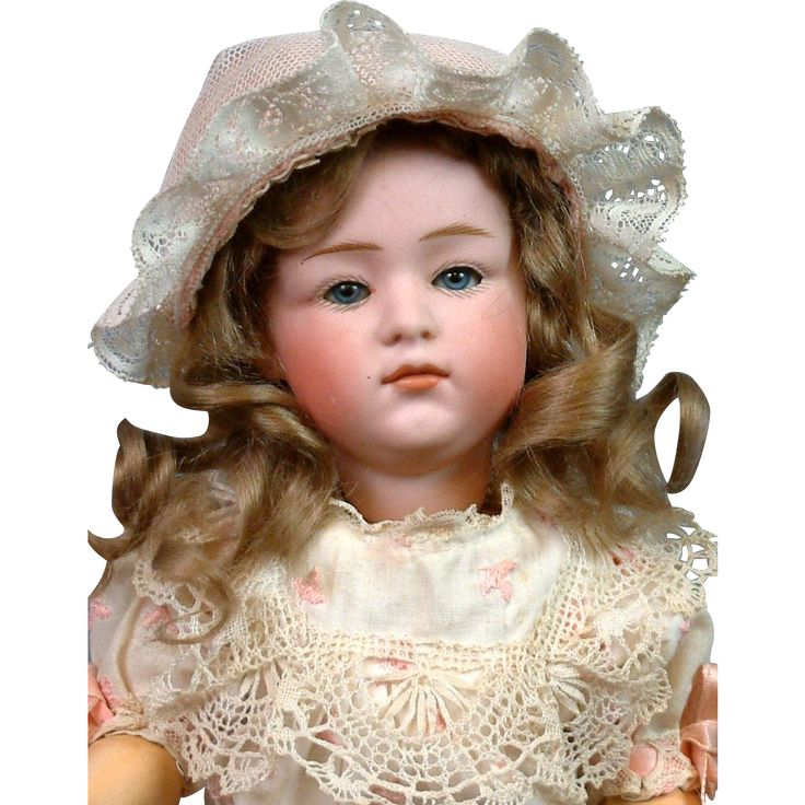 "12.5"" Gebruder Heubach 6970 Pouty Character Child with Pink Bisque & from kathylibratysantiques on Ruby Lane"