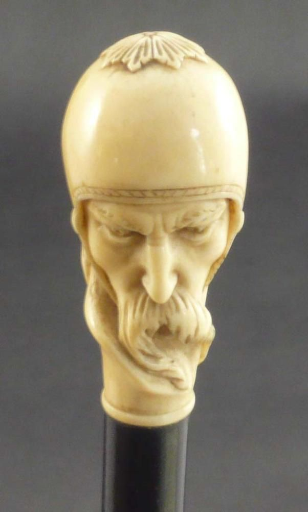 Ivory Viking Warrior Walking Stick