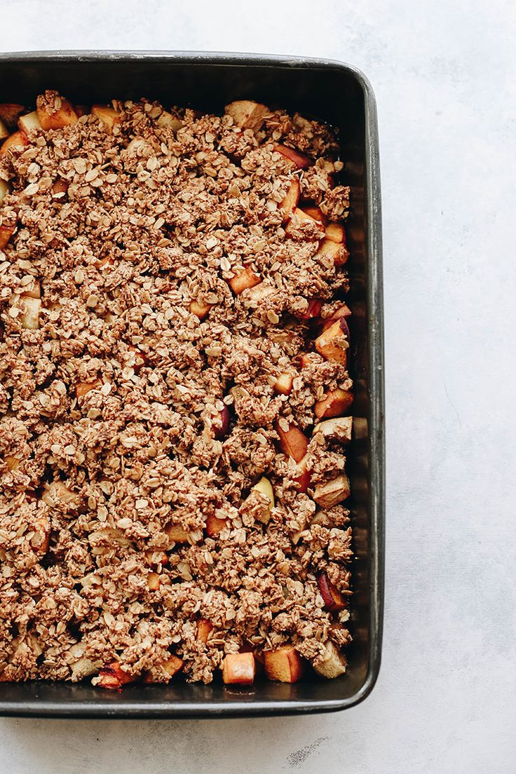 Easy to whip up and full of healthy goodness, this Peach and Apple Crisp will quickly become a favorite for your next cook-out or late summer BBQ!