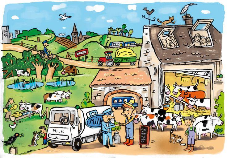 Taal, pragmatiek/ integratie, praatplaat. Thema: de boerderij