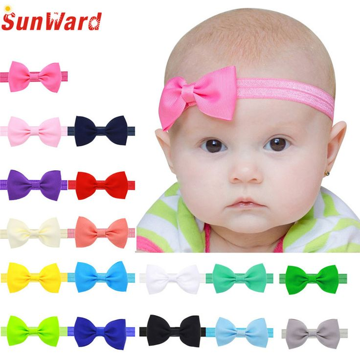 2016 Multicolor Bowknot Mini Headbands girl hair accessories Girl headband cute hair band newborn floral headband LS25