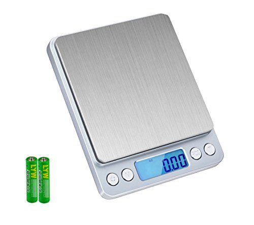 SKYROKU 6.6lb/3kg Digital Kitchen Food Scale Multifunction Pocket Scale with LCD Display (Silver)