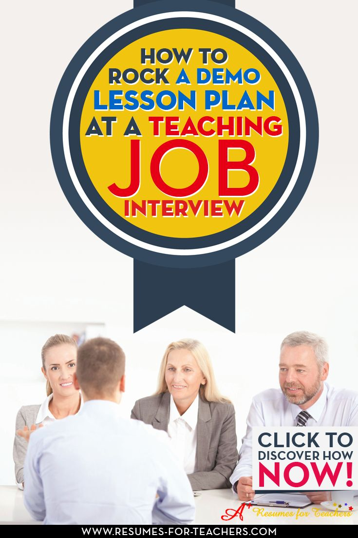 Tips on preparing for a teacher demo lesson in a job interview. This is becoming more common as one of the components of a teaching job interview, you will be alerted to this fact ahead of time so that you can prepare.