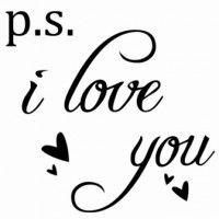 PS I Love You Wall Sticker Medium