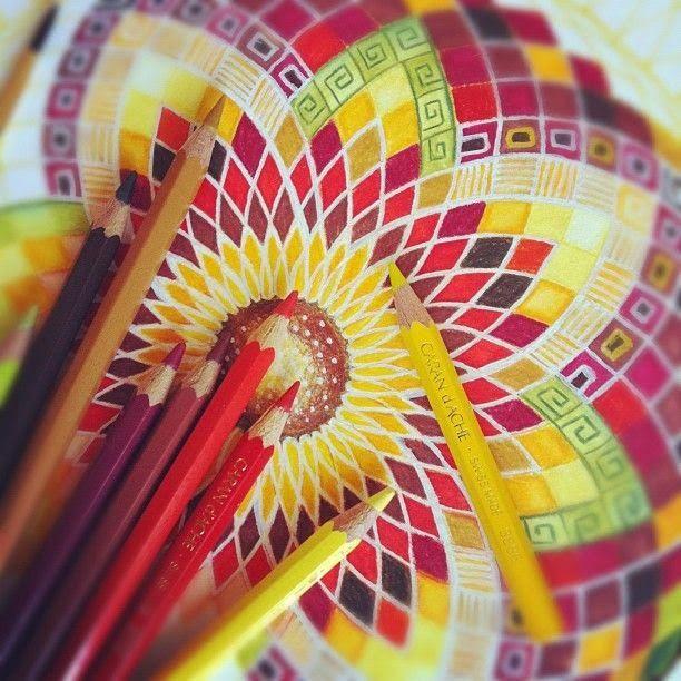 Onderwijs en zo voort ........: 1230. Kleuren met de bovenbouw : 25 Mandala's