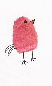 thumbprint bird craft. This would look so cute with Penelope's little fingerprints.