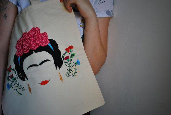 Frida Kahlo shopper frida kahlo shopping bag borsa di tela
