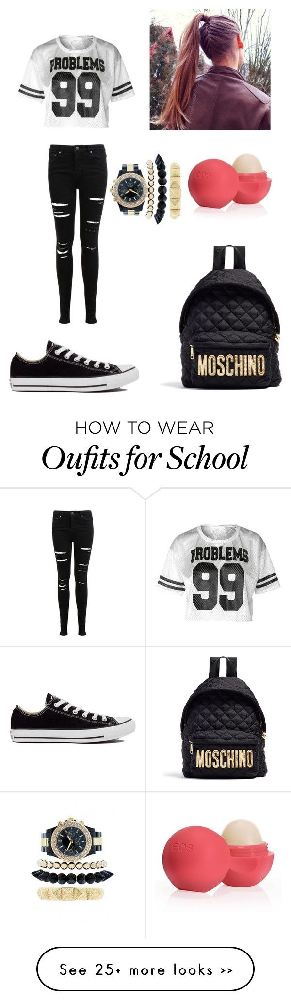 """school"" by loucaporele on Polyvore"