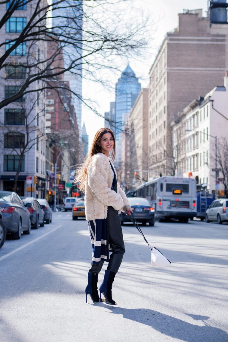 Bag at You - Negin - New York Fashion Week - White Pouch Apparatus Triangle in freezing NY