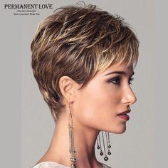 Mujeres peinado rubio flequillo corte pixie raíces oscuras pelucas cortas sintéticas del pelo recto natural pelucas atractivas de la manera pelucas llenas peruca