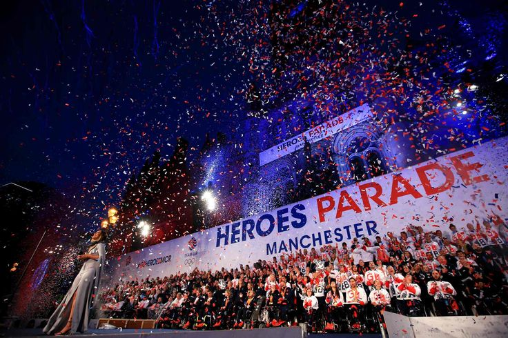 October 18 2016 - Team GB Olympic and Paralympic athletes get a heroes welcome in Manchester
