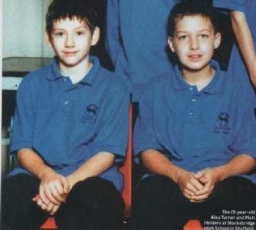 Alex Turner and Matt Helders from the Arctic Monkeys 7years old :)