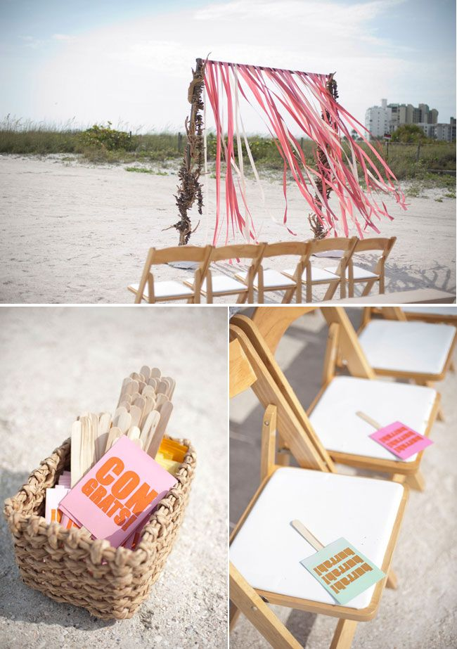 St Pete Beach Wedding with Peach Color