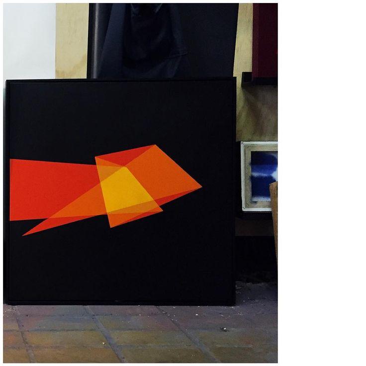 """'Awe', 30x30"""" aerosol on canvas."""