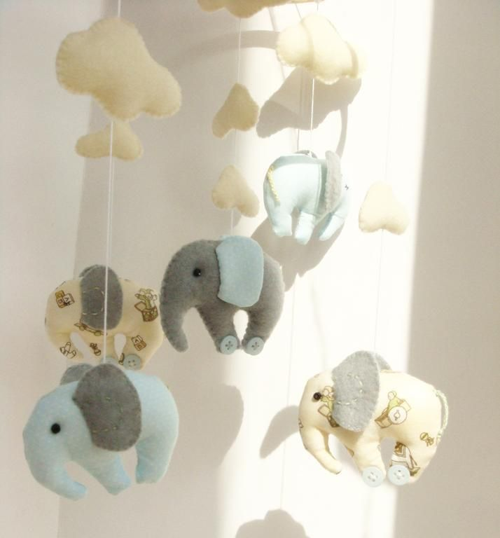 Sewing Ideas | Project on Craftsy: Elephant Baby Mobile ...