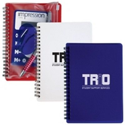 Promo Notepad With Pvc Stationery Pouch Min 100 - Promotional Giveaways - Custom Notepads - GO-98251s - Best Value Promotional items including Promotional Merchandise, Printed T shirts, Promotional Mugs, Promotional Clothing and Corporate Gifts from PROMOSXCHAGE - Melbourne, Sydney, Brisbane - Call 1800 PROMOS (776 667)