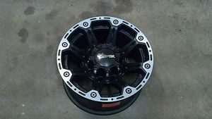 """Dick Cepek Torque 16"""" 16x8 8x6.5 8 Lug Black Wheel Rim Chevy Truck Rim 1068482BM"""