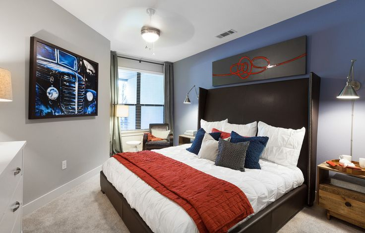 light grey walls with blue accent wall - Google Search ...
