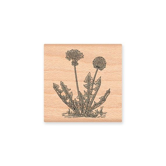 DANDELION WEEDSWood Mounted Rubber Stamp by MountainsideCrafts, $7.25