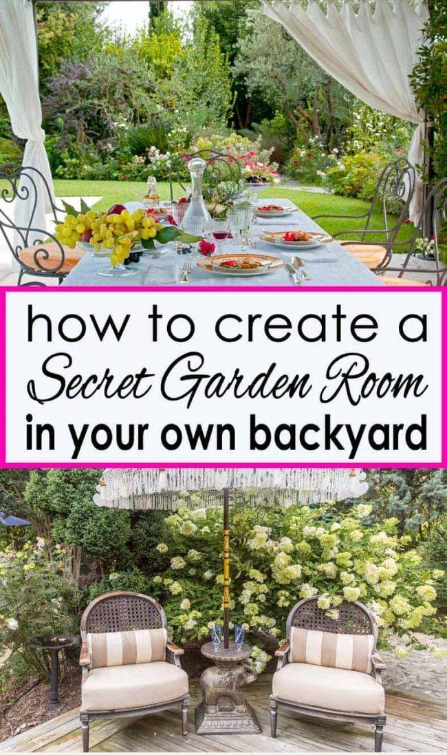 Secret Garden Design Ideas How To Create Your Own Garden Room Gardening From House To Home Garden Room Beautiful Backyards Low Maintenance Garden Design