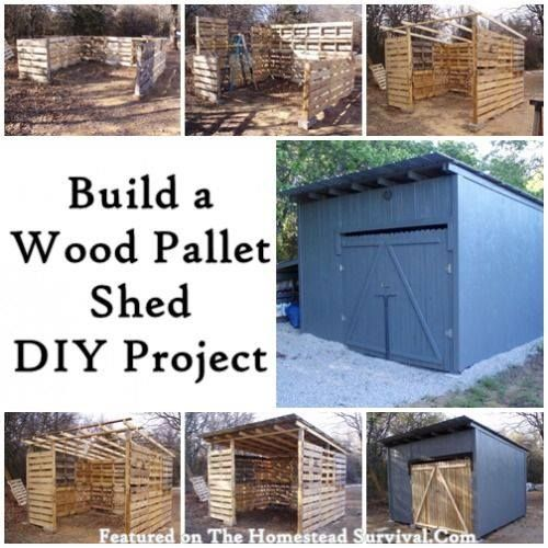 Do It Yourself Home Design: Build A Full Size Shed Made From Pallets LIKE Us On
