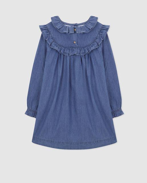 8f76998cb Vestido vaquero de niña Gocco en azul