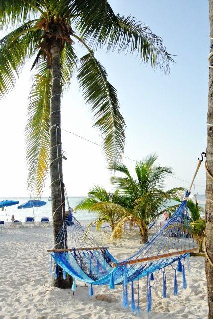 Isla Mujeres beach hammock. Mexico life.