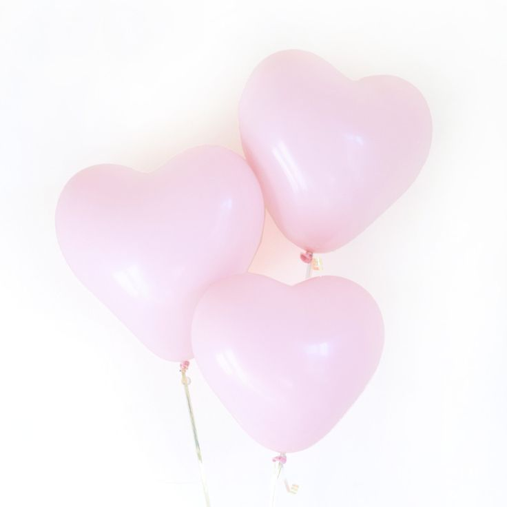 Our Pink Heart Balloons are perfect for your bridal shower or sweetheart! DETAILS - 3 Latex Heart Balloons - 11 inches - Helium or air-full - Shipped flat