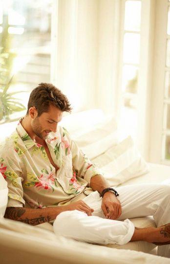 Rafael Lazzini. Such a beautiful man, even in that ugly shirt.
