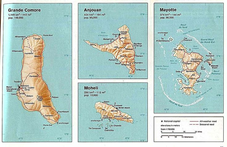 Comoros country map
