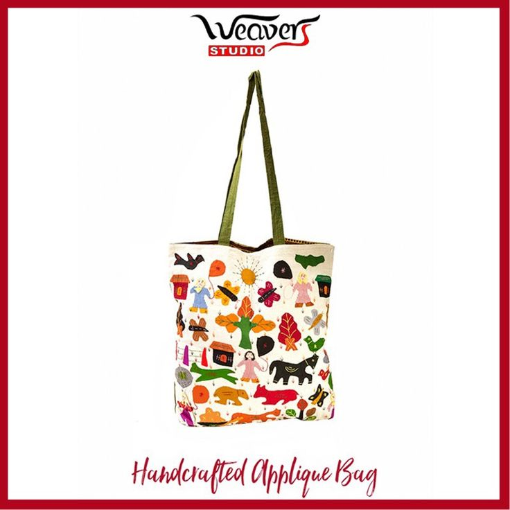 Introduce your child to the concept of sustainable products while they are still young. #WeaversStudio brings a fun, colourful handmade applique bag for the kids.  You can buy this bag here: http://bit.ly/2hIYJxD