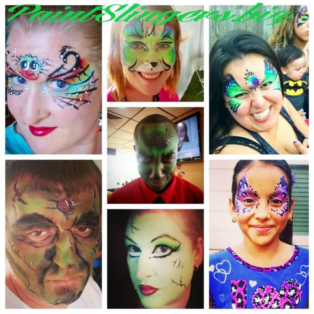225 best images about paintslingers face and body painting for Body paint party city