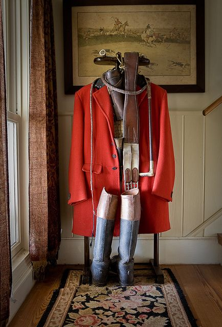 Fox hunt gear.