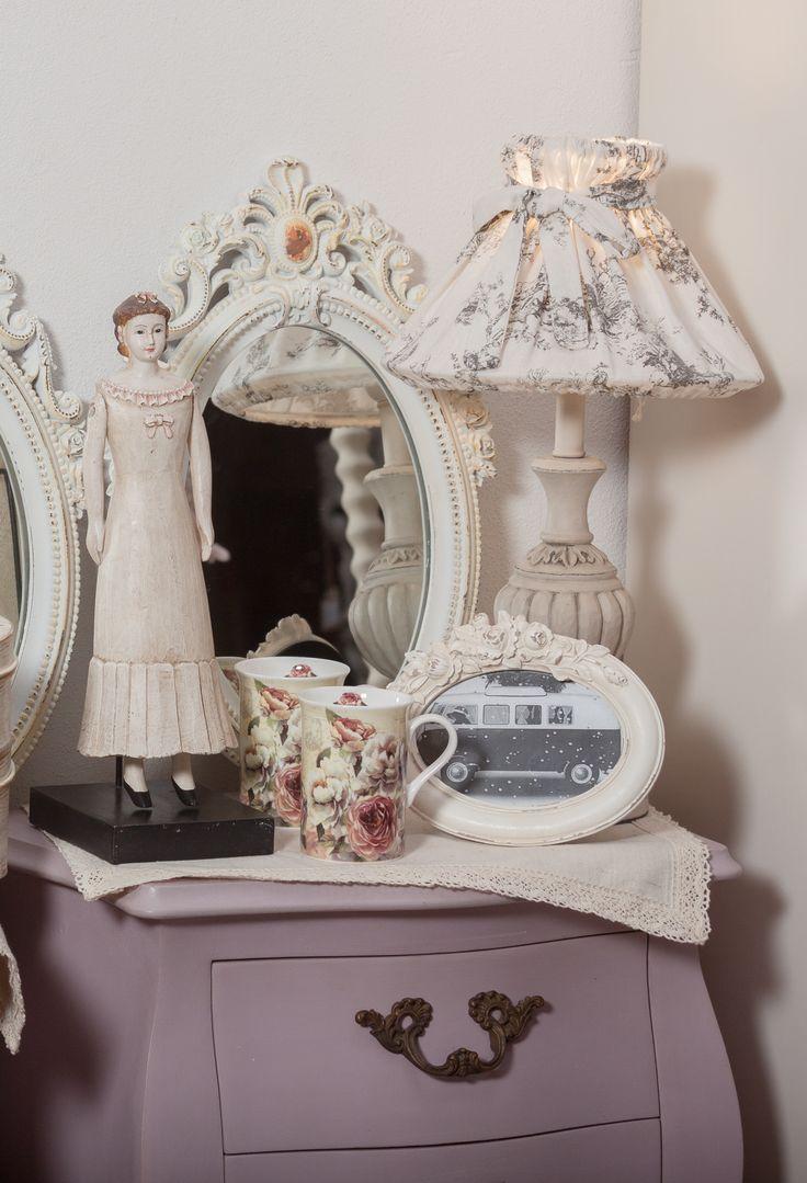 Lilac Furniture with Antique details, Vintage Design pieces