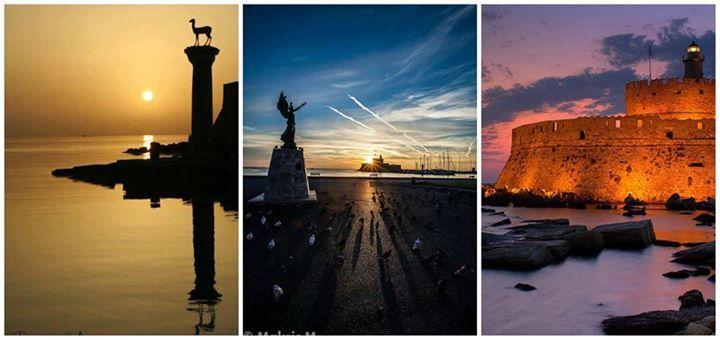 Ρόδος (Rhodos,Rhodes,Rodos)  Ρόδος (Rhodos,Rhodes,Rodos) Όμορφες ανατολές με όμορφα χρώματα στον ουρανό της Ρόδου Beautiful sunrise in the sky ofRhodes — με τους Emily Ann Vasiliou στην τοποθεσία Mandraki.