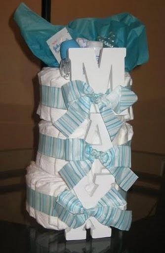 Baby Max's Diaper Cake