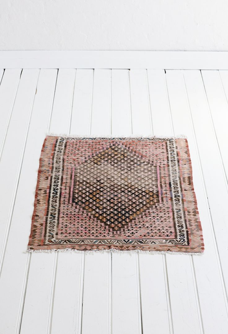 vintage rug on white floor