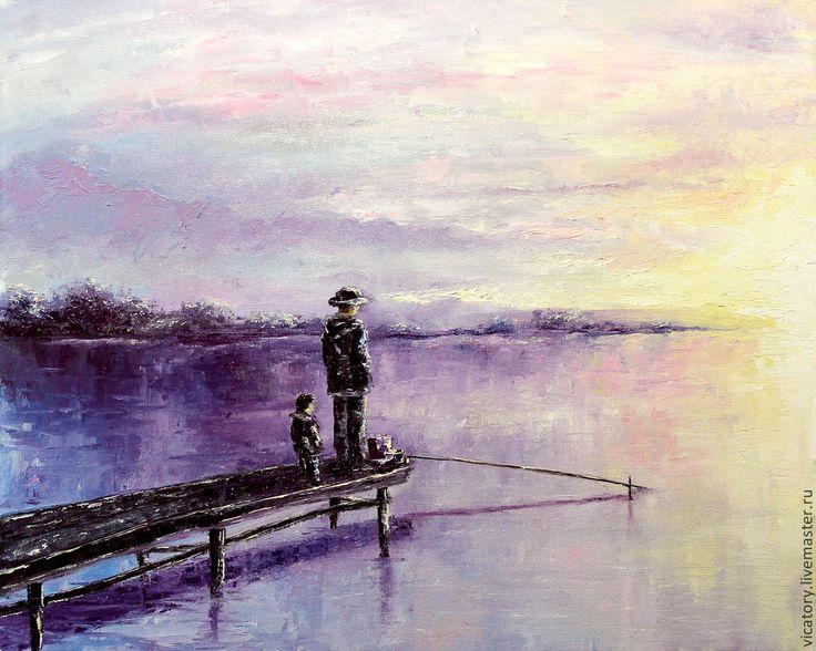 3 минуты до.., картина масло - фиолетовый,розовый,белый,голубой,картина