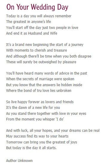 Love Quotes For Him On Your Wedding Day : ... quotes wedding toast quotes wedding poems speech for wedding love