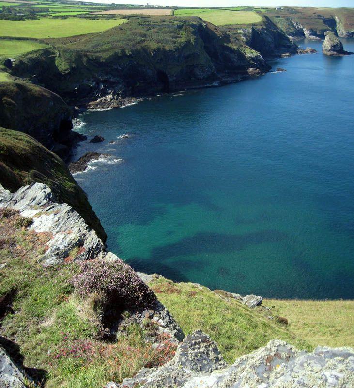 Calm Cornish coastline, Trevalga Bay, Boscastle, Cornwall, England Copyright: David Surname