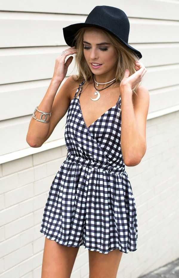 Pin Up Playsuit - $59.00 - Womens Clothing Online Australia