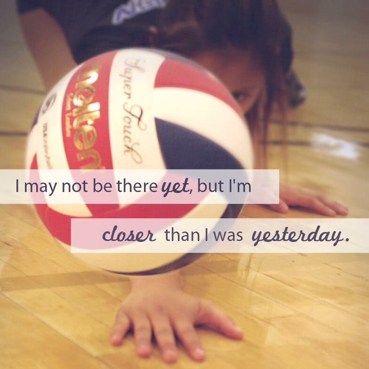 Never Give Up Volleyball Courage Inspiration