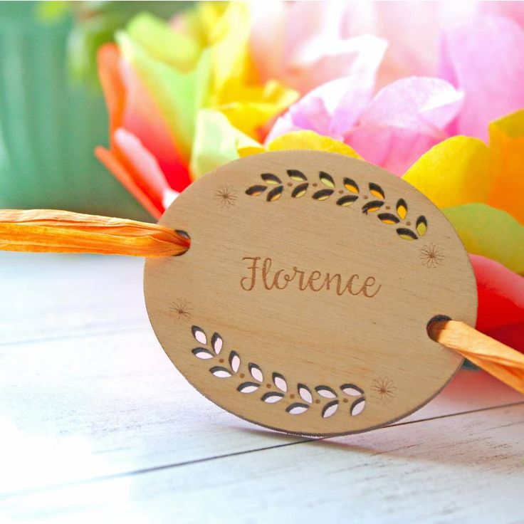 Fern Personalised Wooden Place Settings. Add a special finishing touch to your table with these personalised napkin place settings.
